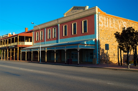 the Broken Hill Regional Art Gallery with the heritage