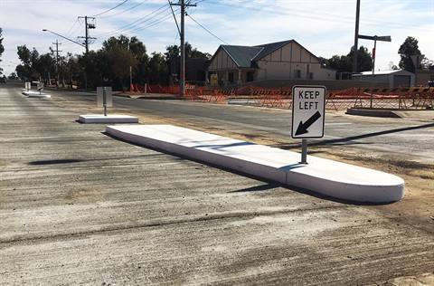 Newly completed heavy vehicle intersection on Williams Street