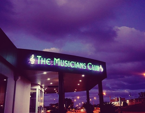 The Musicians Club  entrance