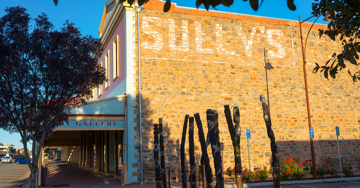 the Sully's wall at the Broken Hill Regional Art Gallery