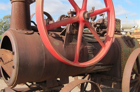 A restored steam engine from the West Darling Machinery Preservation Society