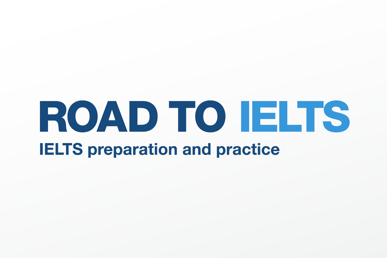 Road to IELTS text as a banner