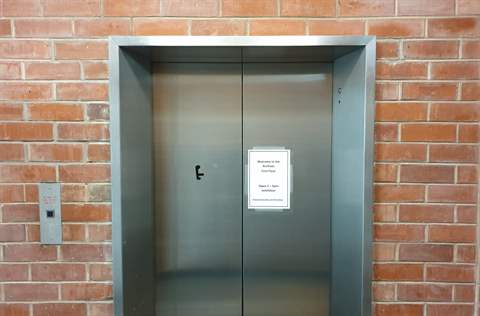 Photograph of elevator at library